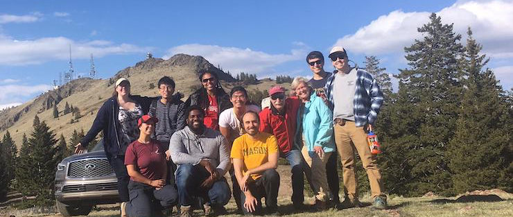Graduate students on the EART 290E field trip to Mt. Taylor in New Mexico.